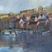 Whitby Harbour ( Oil )